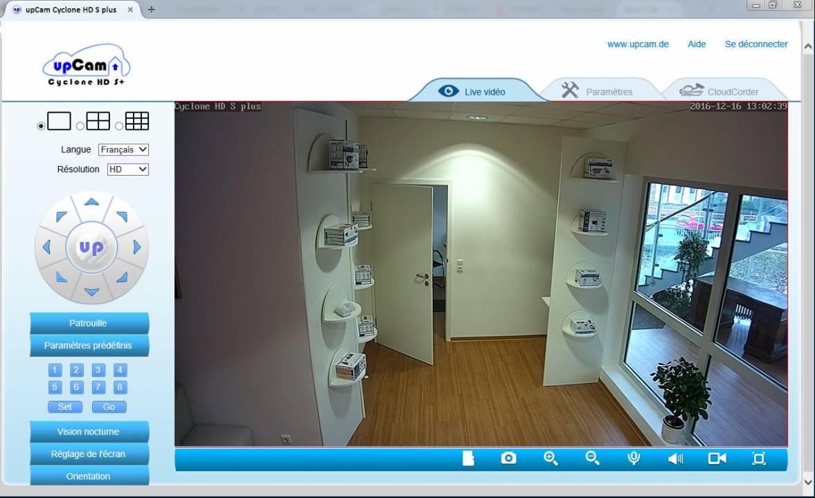 IP Kamera upCam Cyclone HD S+ (weiß) all-in-one ...