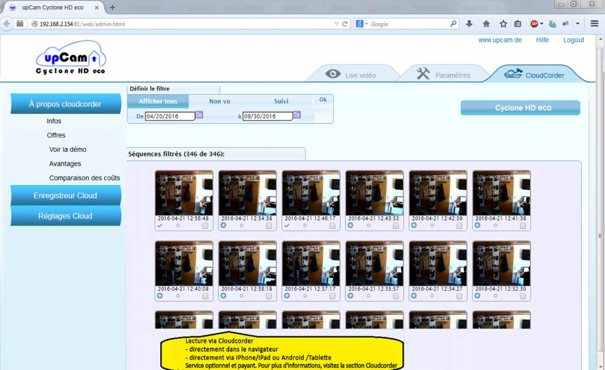 IP Kamera upCam Cyclone HD eco (schwarz) all-in-one ...
